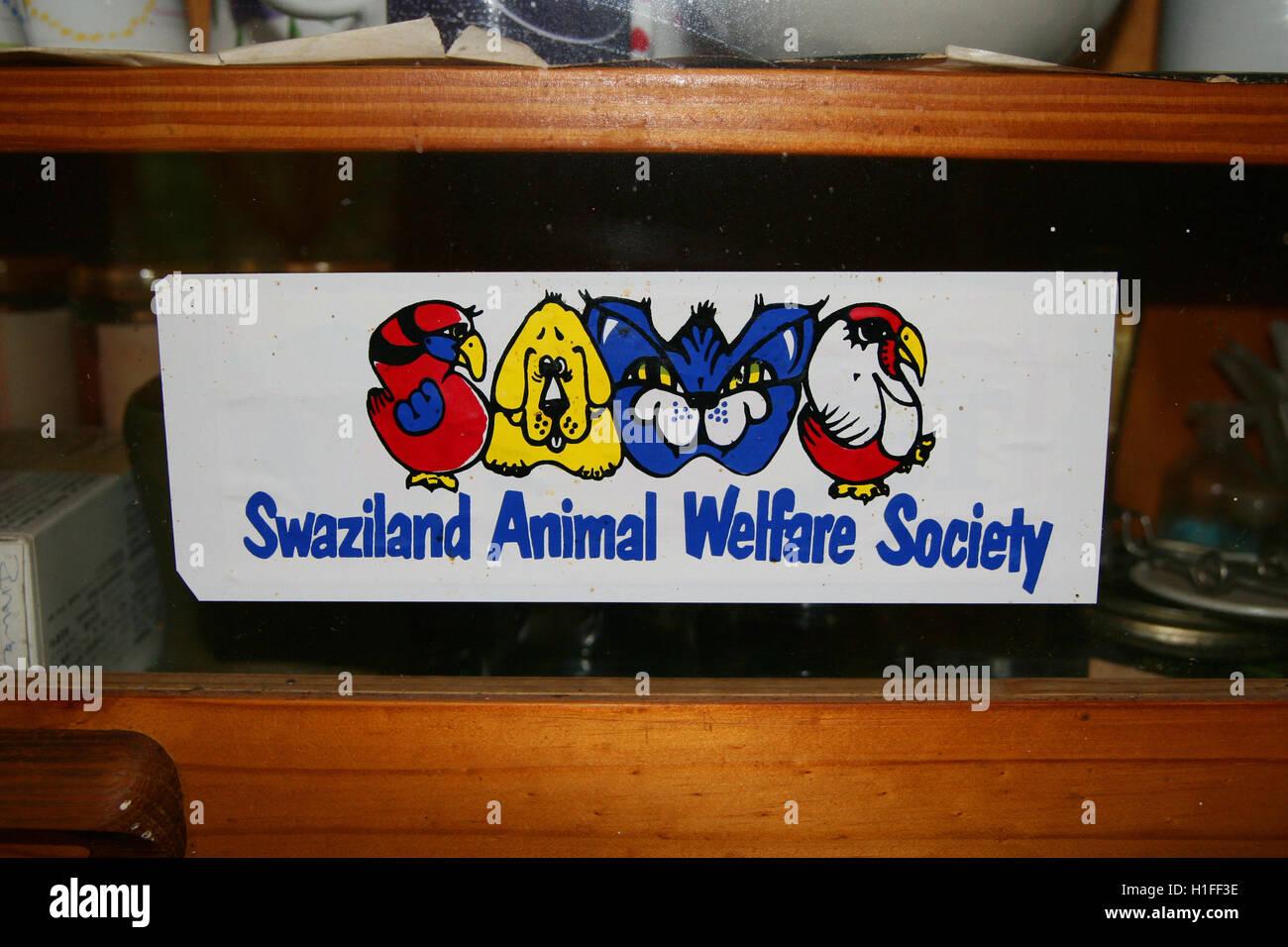Swaziland Animal Welfare Society, seghe, Regno di Swaziland Immagini Stock