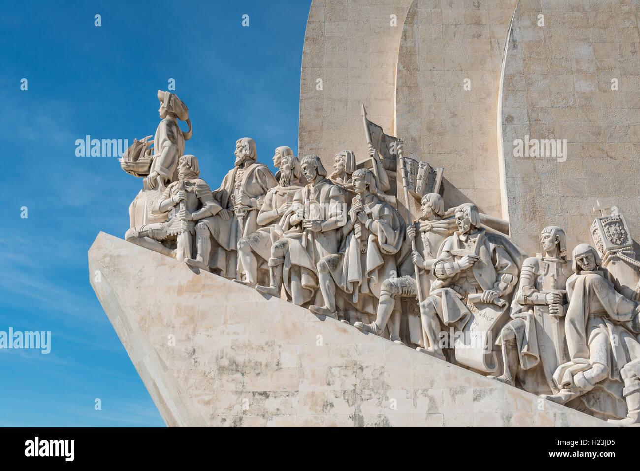 Padrão dos Descobrimentos, un monumento alle scoperte, close-up, Belém, Lisbona, Portogallo Immagini Stock