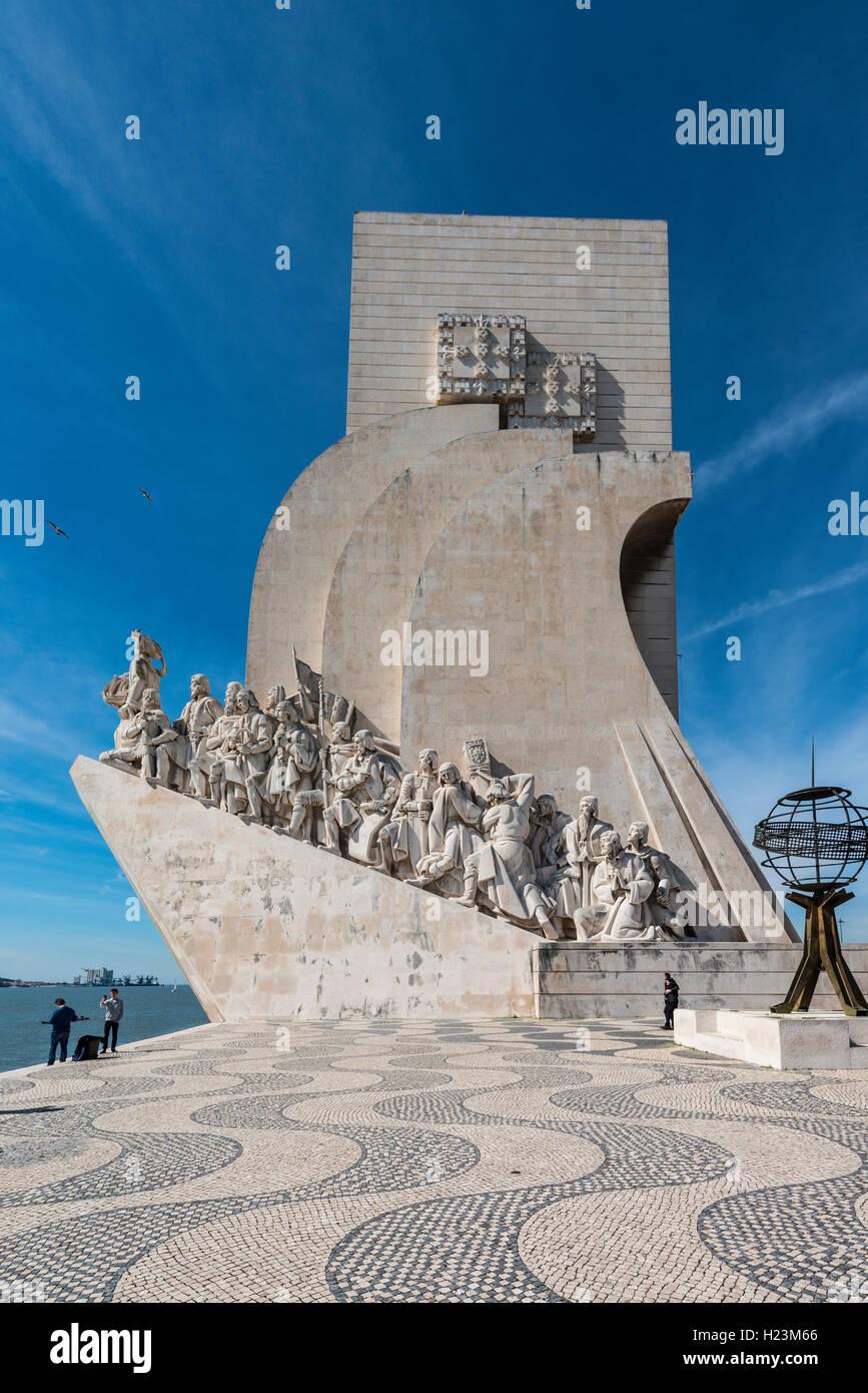 Padrão dos Descobrimentos, un monumento alle scoperte, Belém, Lisbona, Portogallo Immagini Stock