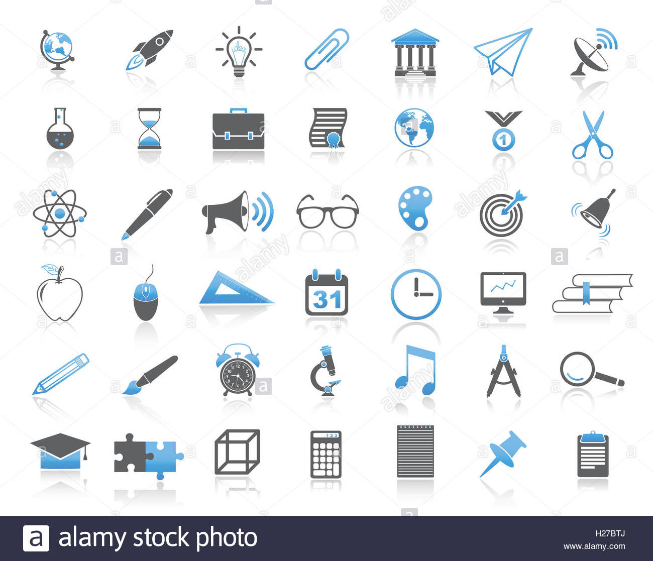L'istruzione universale moderna icona impostare Immagini Stock