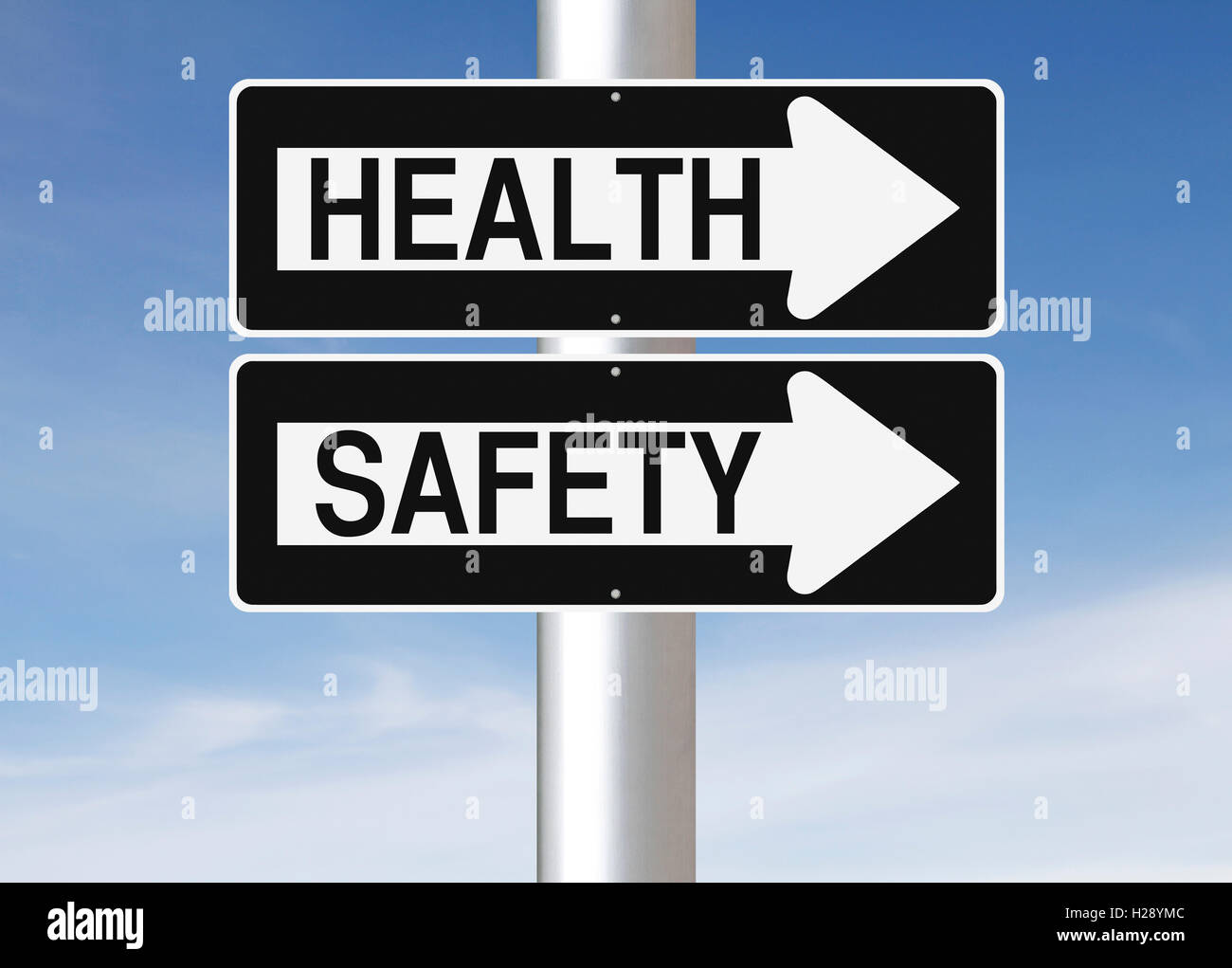 La salute e la sicurezza Immagini Stock