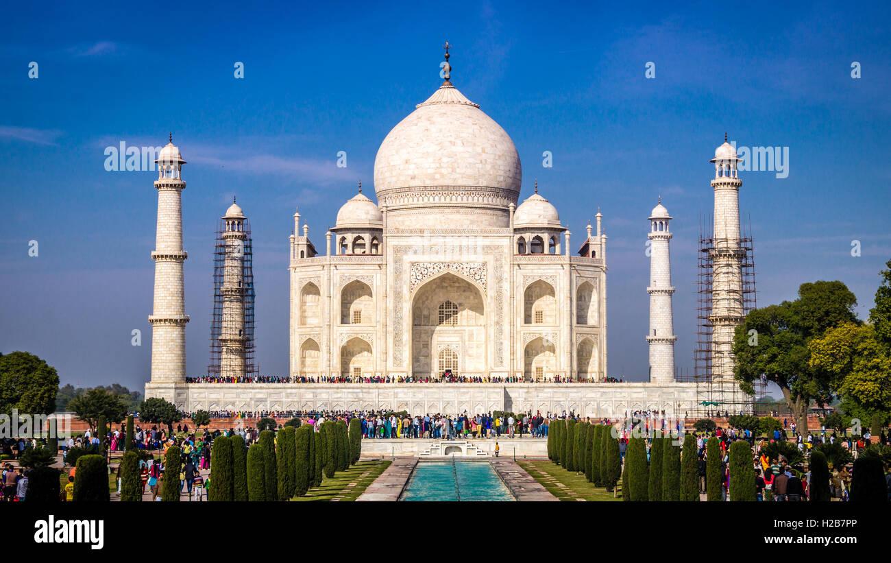 Vista del Tajmahal in Agra, India Immagini Stock