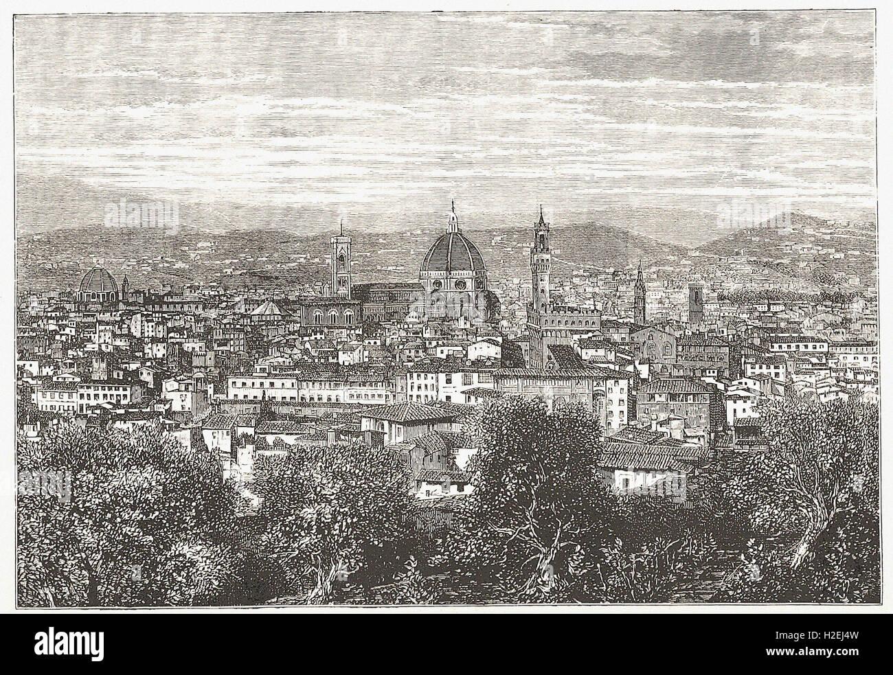 """- Dalla 'Cassell illustrato della storia universale"""" - 1882 Immagini Stock"""