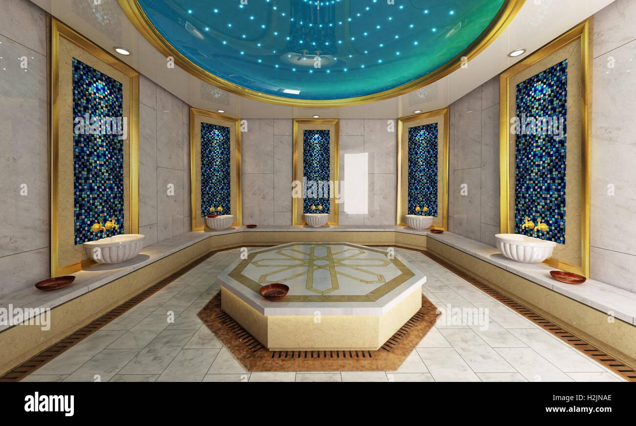 Moderno bagno turco progettazione d e rendering foto immagine