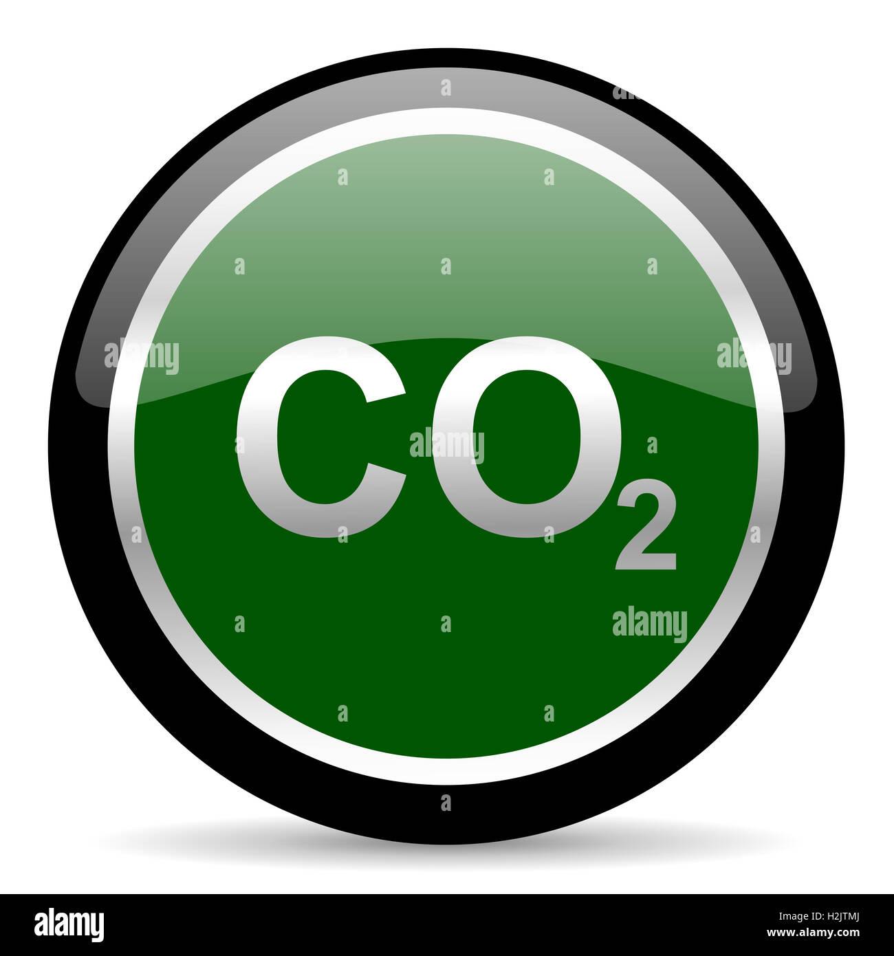Il biossido di carbonio icona Immagini Stock