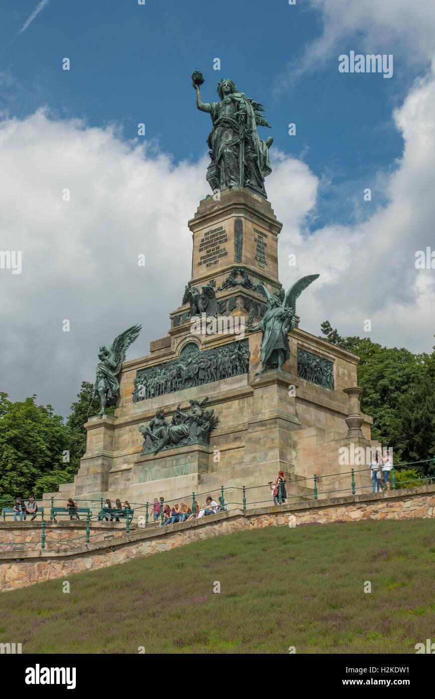 Germania statua, Niederwalddenkmal, Rudesheim, Germania Immagini Stock