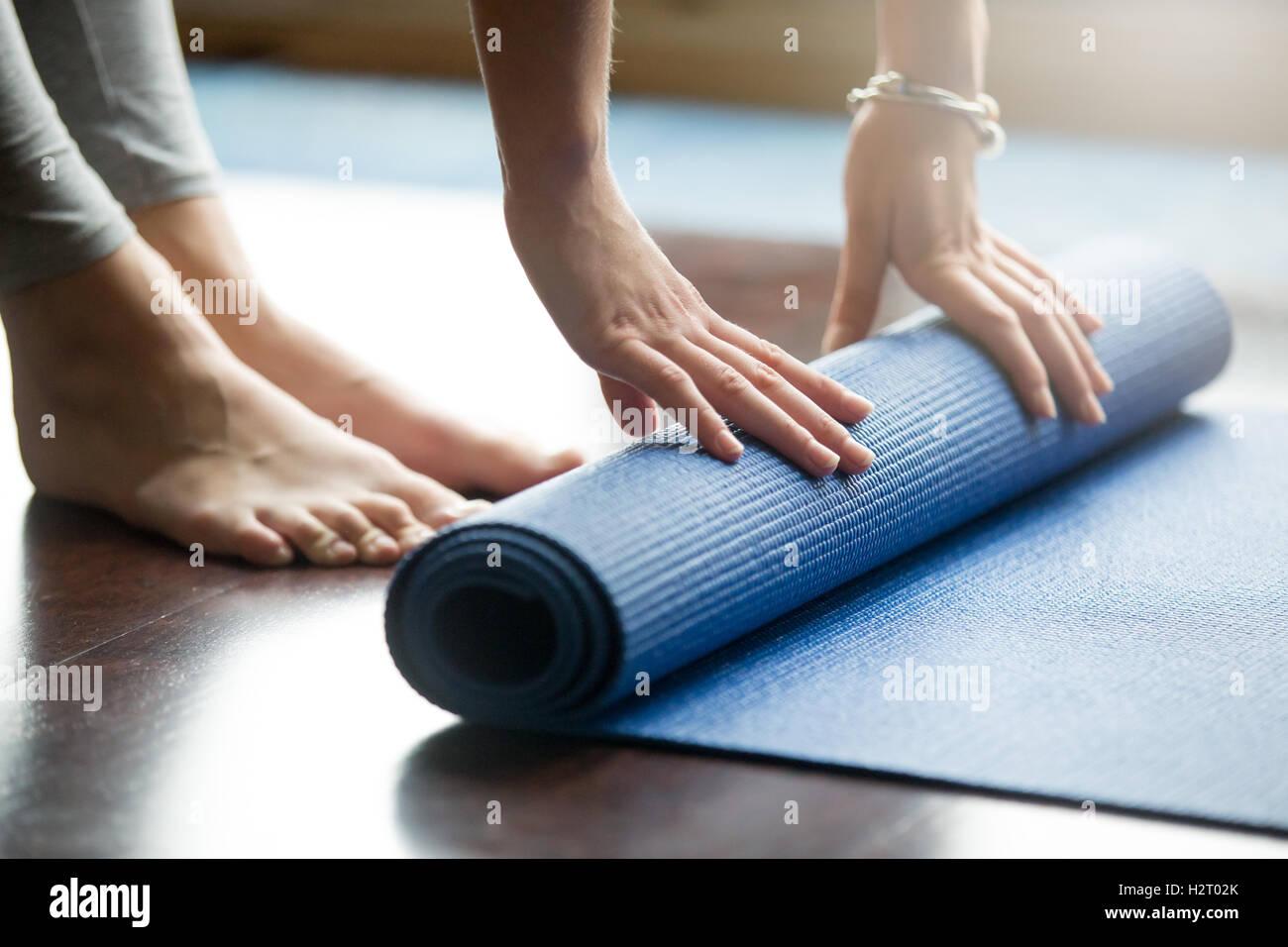 Yoga il concetto di formazione Immagini Stock