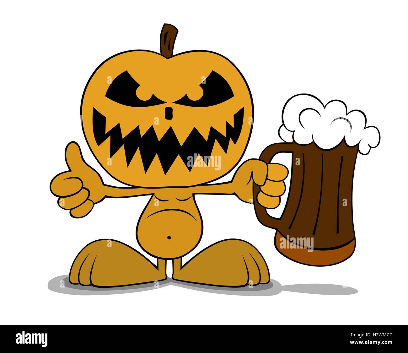 Zucche Di Halloween Cartoni Animati.Illustrazione Della Zucca Di Halloween In Stile Cartone Animato Foto
