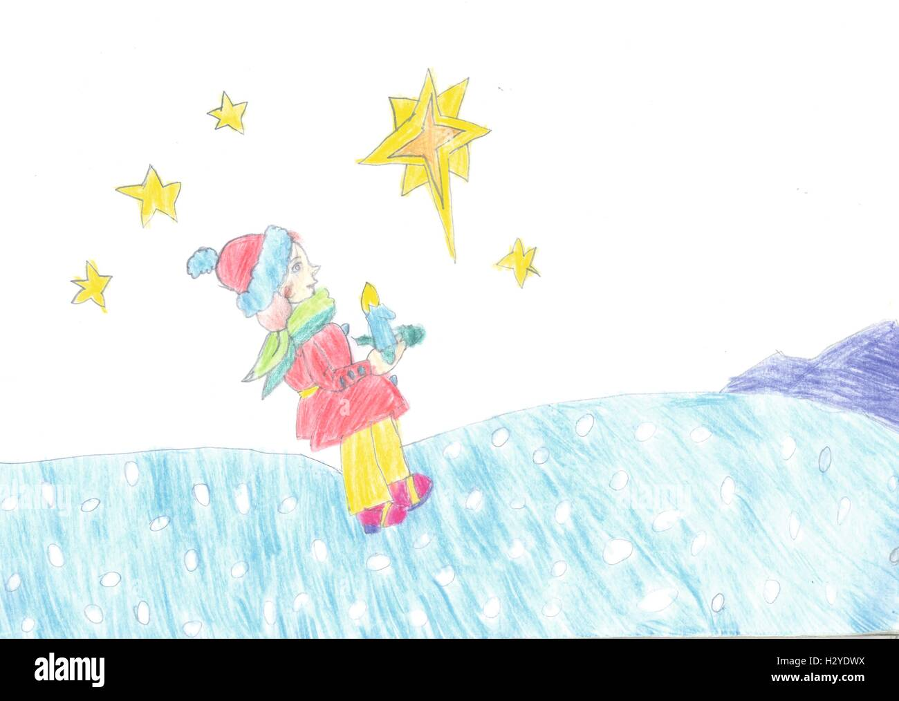 Niño Estrellas Niño Nocturno ImágenesFotos Cielo cTKF3l1J