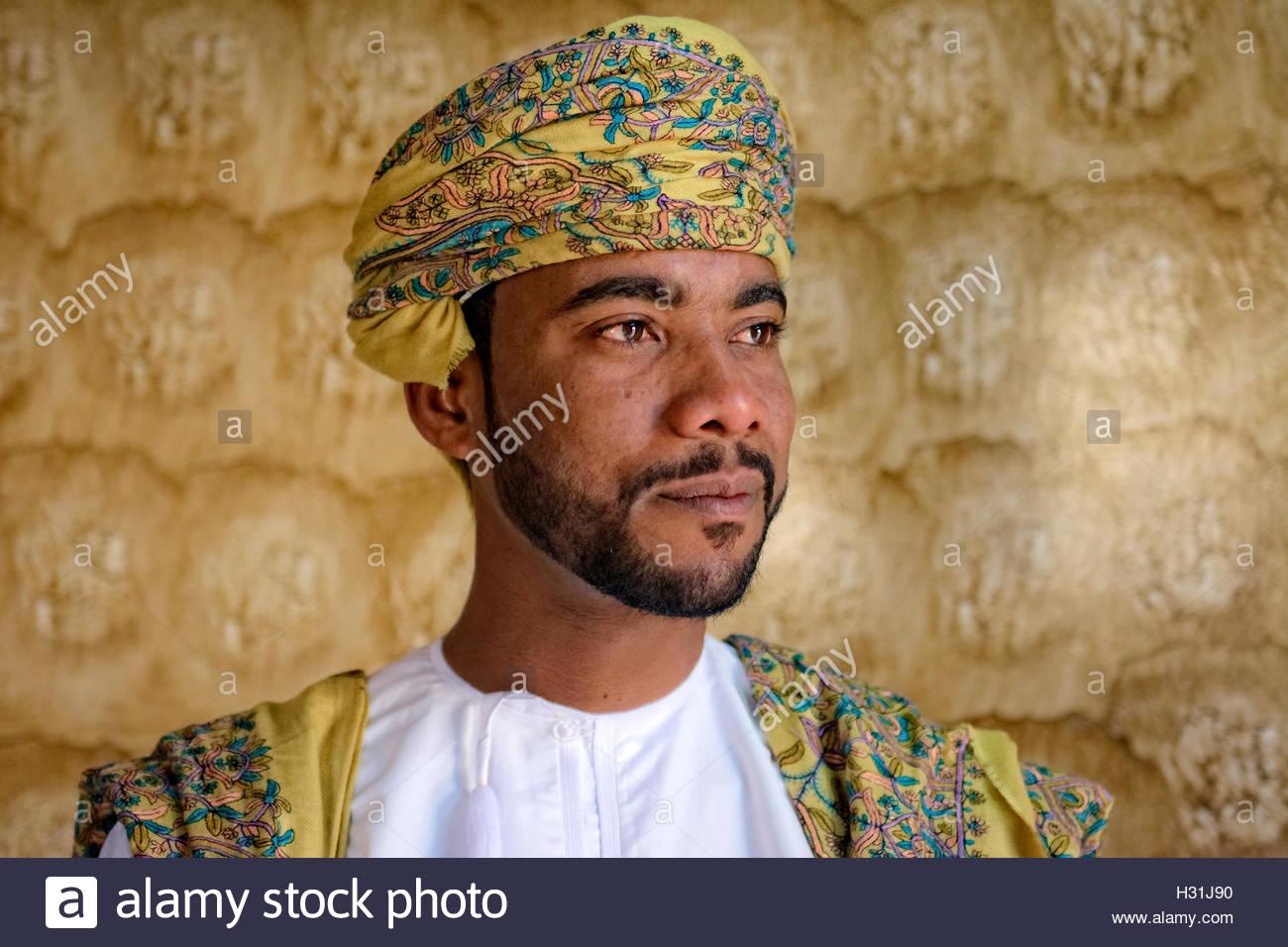 Oman, uomo in abito cerimoniale Immagini Stock
