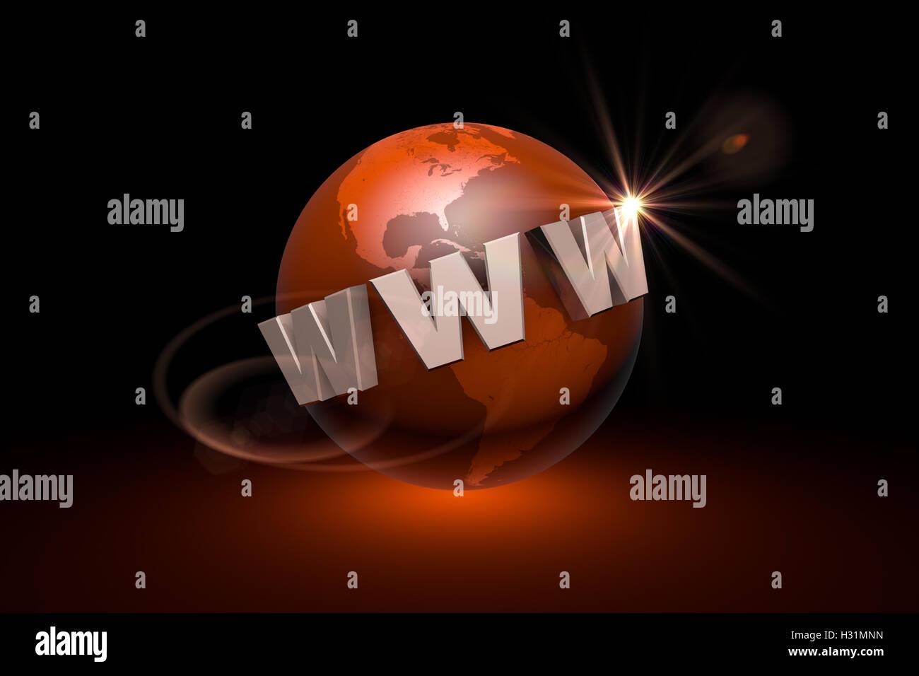 La globalizzazione. La comunicazione internazionale sistema. Le nuove tecnologie dell'informazione. Disponibili Immagini Stock