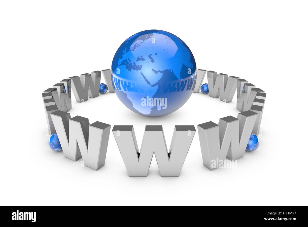 La globalizzazione. La comunicazione internazionale sistema. Le nuove tecnologie dell'informazione. International Immagini Stock
