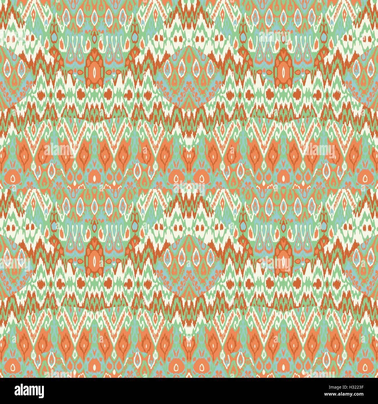 ed720b5a5e Mosaico etnico arabesque Bohemien Stampa configurazione. Seamless a zig-zag  ornamento geometrico astratto dello