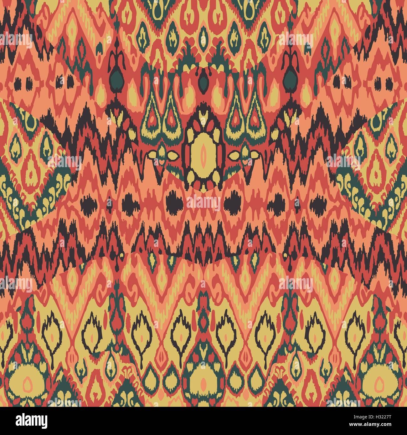 Tribali etnici tappeti, plaid tessuto modello di avvolgimento, piastrelle per pavimento stampa, pelle vintage sfondo Immagini Stock