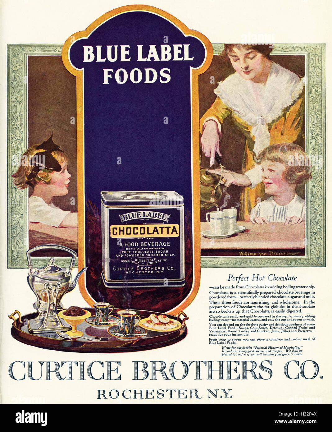 1920 un annuncio da un originale vecchia vintage 20s rivista