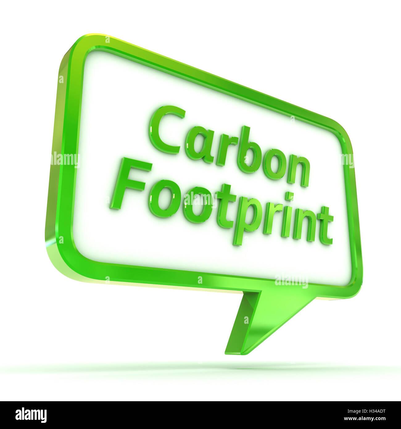 Discorso bolla impronta di carbonio Immagini Stock