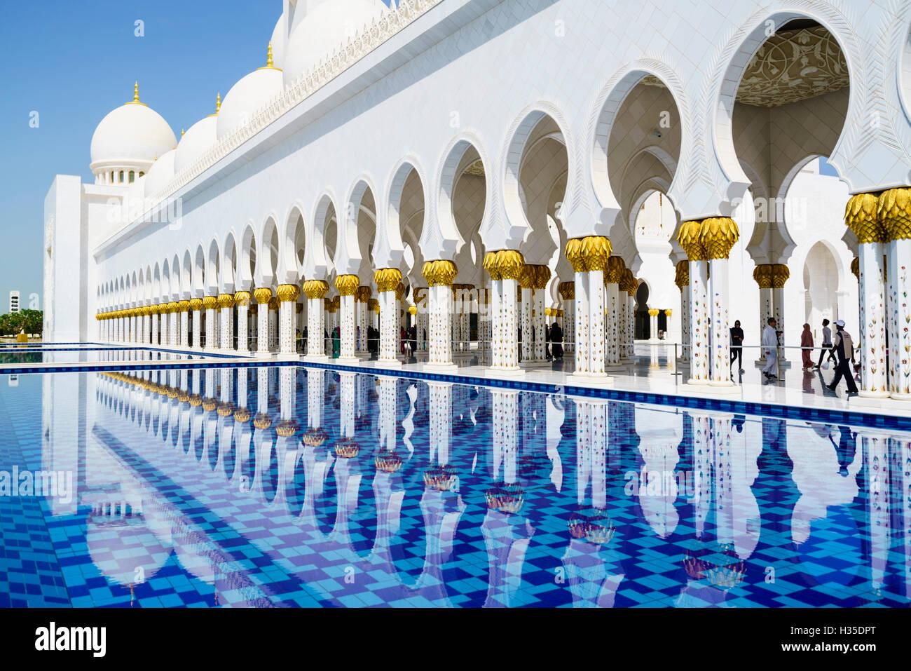 Moschea Sheikh Zayed, Abu Dhabi, Emirati Arabi Uniti, Medio Oriente Immagini Stock