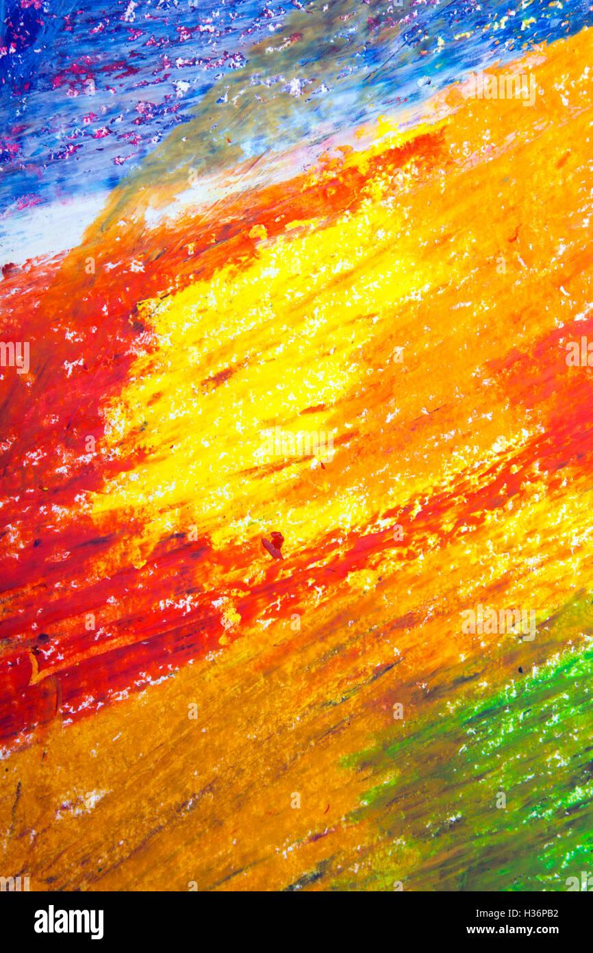 Olio Colorato Disegno Pastelli Texture Di Sfondo Foto Immagine