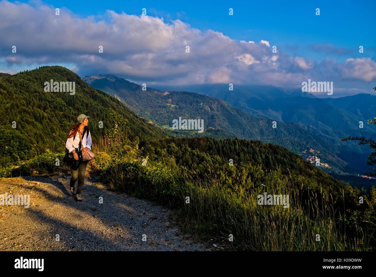 Emilia Romagna Via Francigena Passo della Cisa paesaggio Immagini Stock