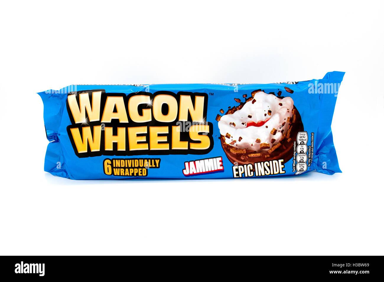 Burtons ruote di carri snack biscotti Immagini Stock