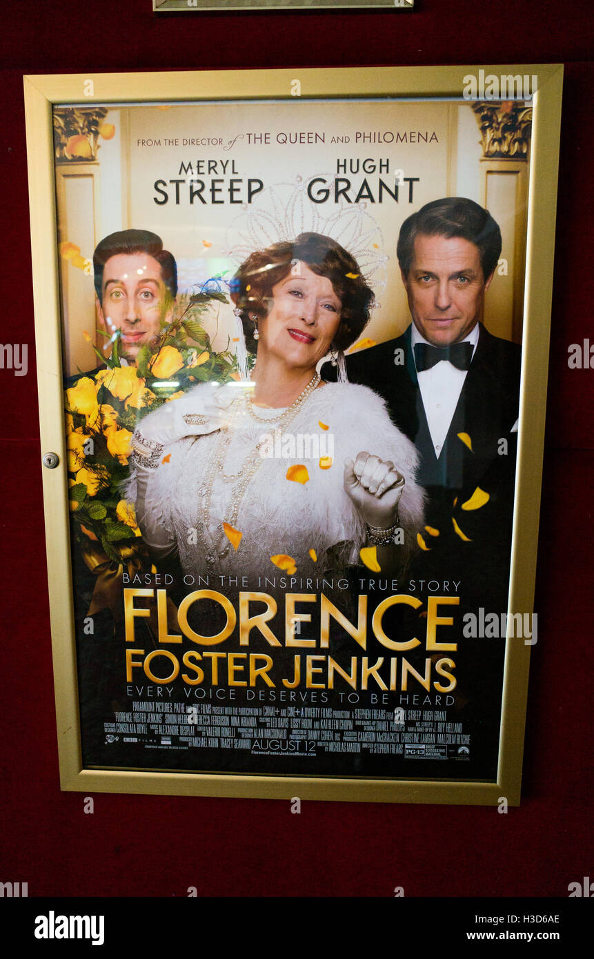 Theatre Poster Per Film Florence Foster Jenkins Ereditiera Un