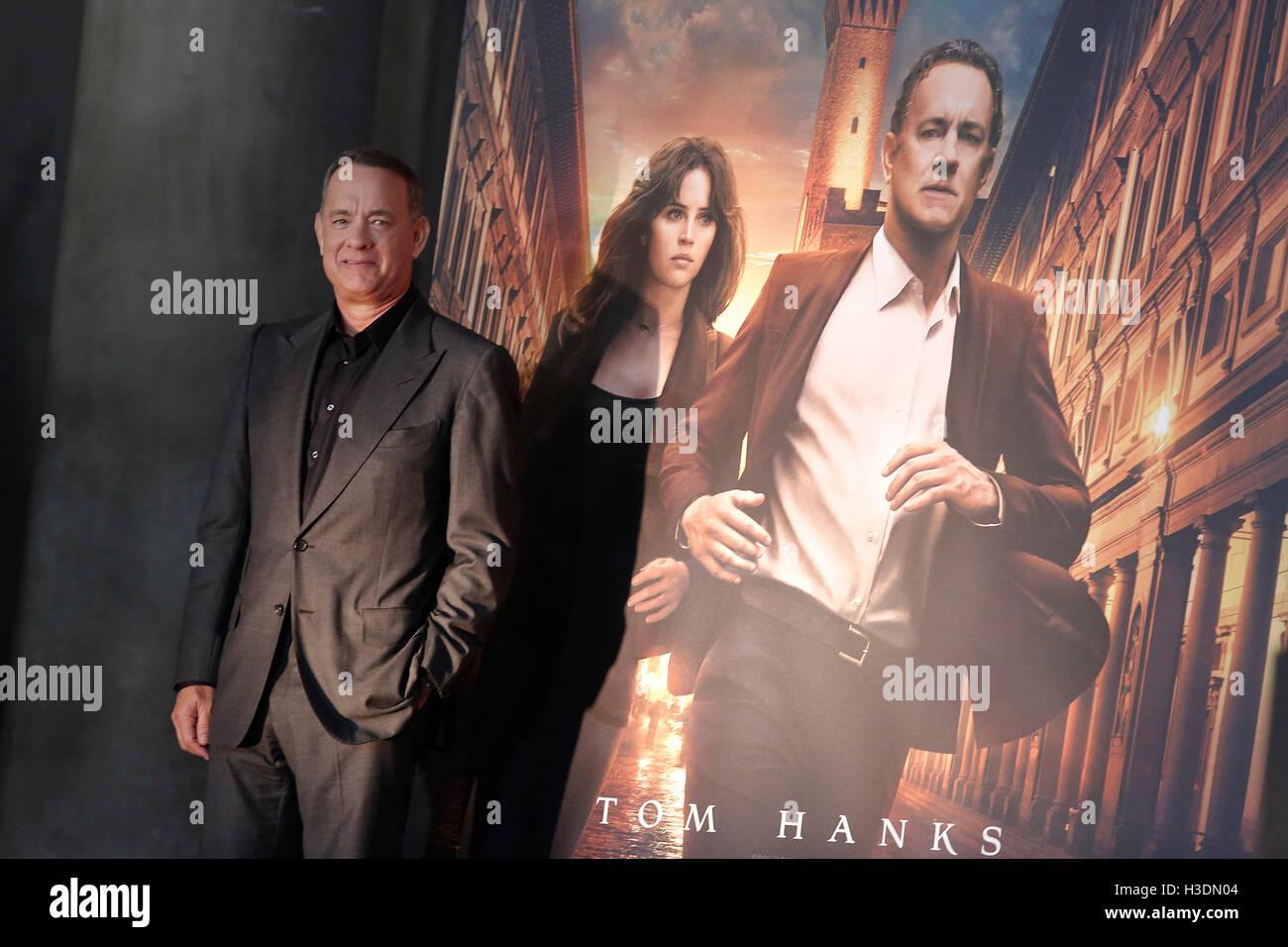 """Firenze, Italia. Il 6 ottobre, 2016. Toma Hanks Firenze il 6 ottobre 2016. """"L'Inferno"""" Photocall, Immagini Stock"""