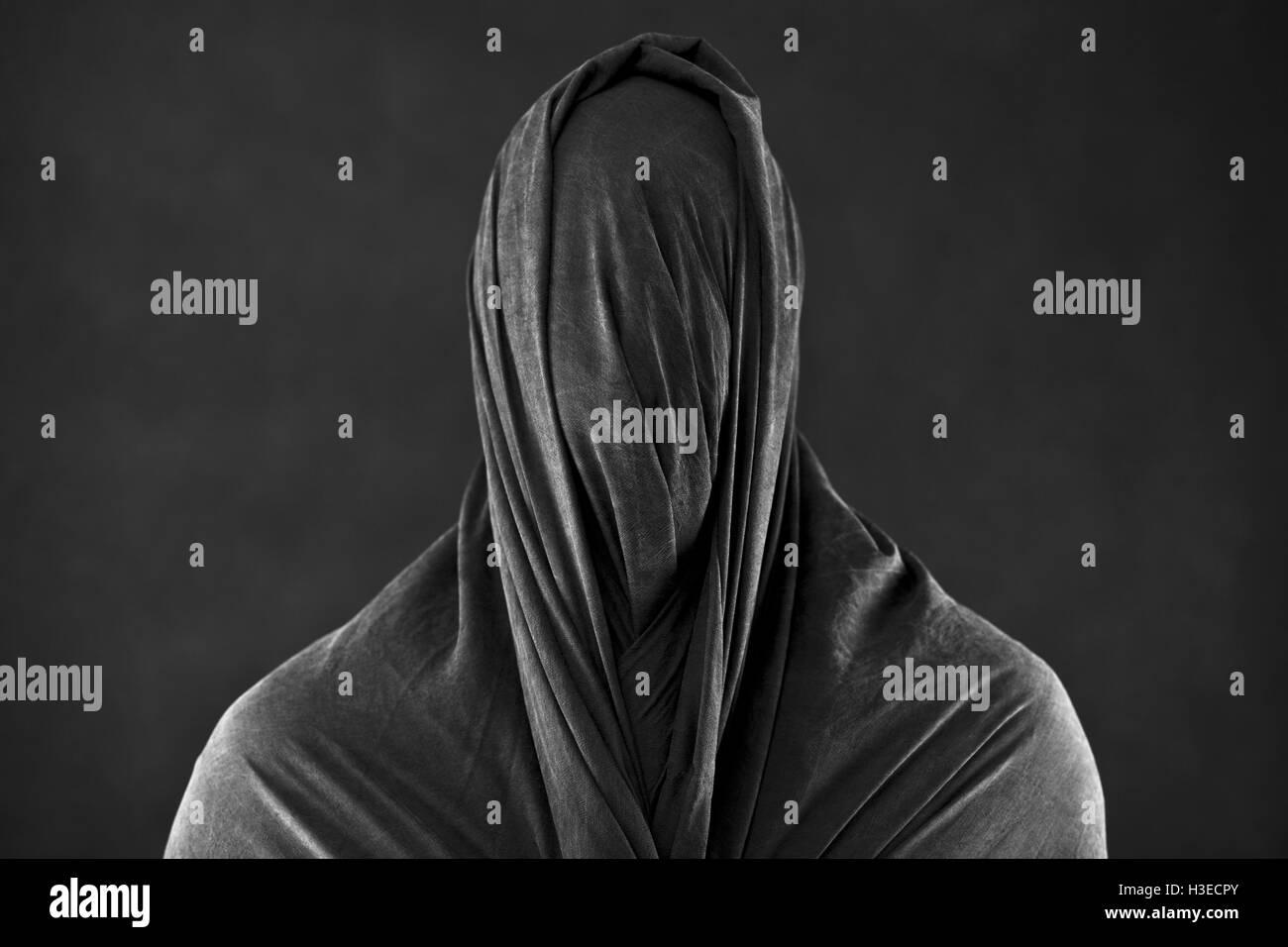 Ghost in the dark Immagini Stock