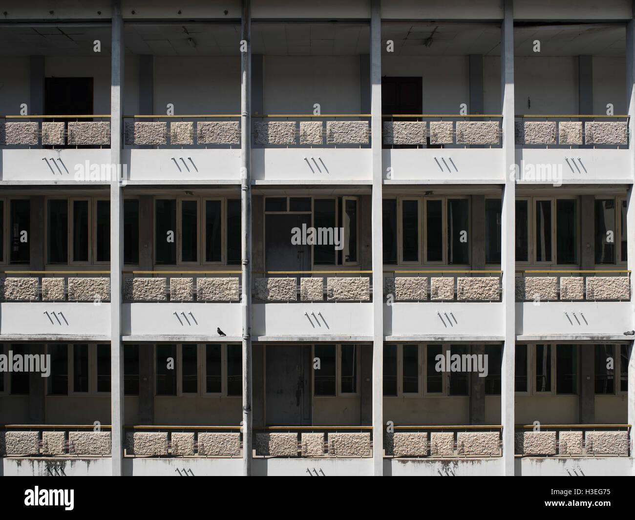 Abbandonata la British architettura coloniale di Yangon, Myanmar (Birmania) Immagini Stock