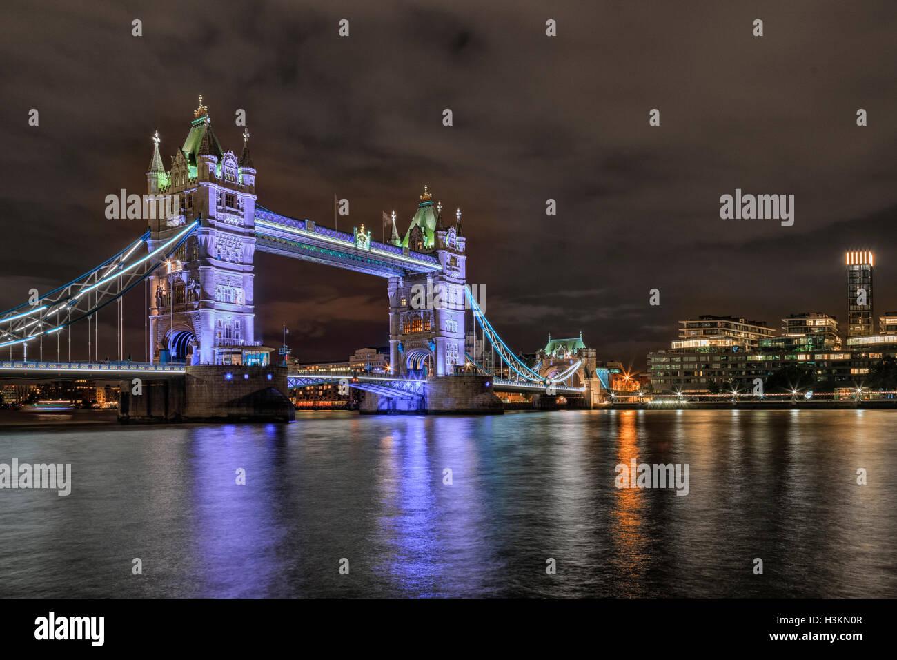 Il Tower Bridge di Londra, Inghilterra, Regno Unito Immagini Stock