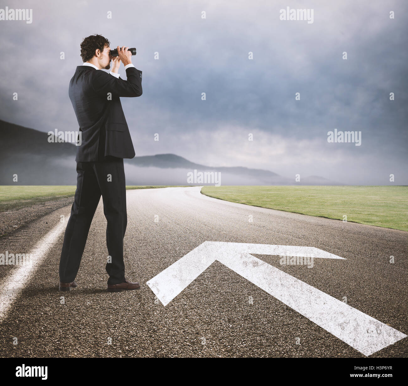 Seguire la strada per il successo Immagini Stock