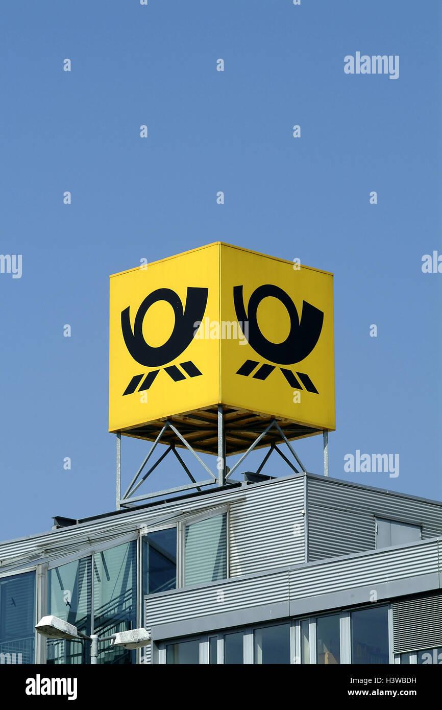 Luci Al Neon Per Ufficio.Post Edificio Per Uffici Dettaglio Logo Post Edificio Segno