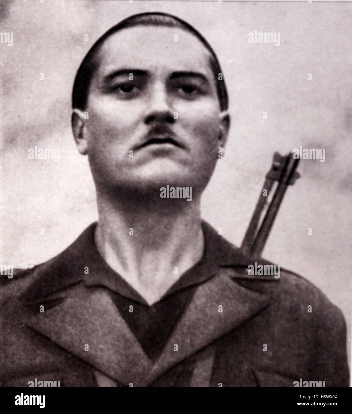 Italiano cartolina di propaganda di un esercito di milizia fascista stati 1936 Immagini Stock