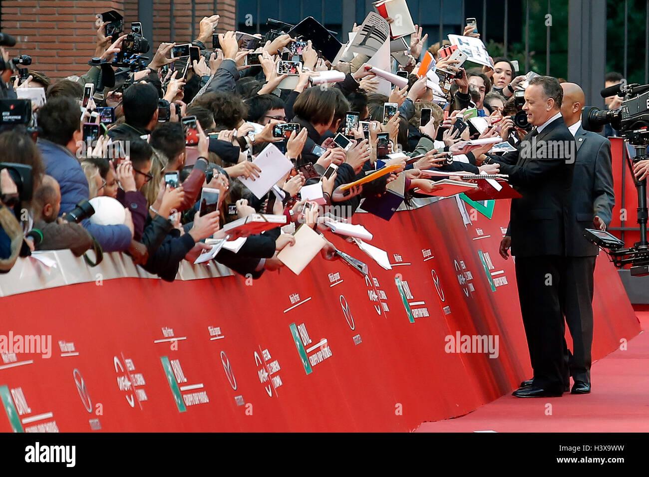 Tom Hanks Roma 13 ottobre 2016. Roma Film Fest XI edizione. Foto di Samantha Zucchi Insidefoto Credito: insidefoto Immagini Stock