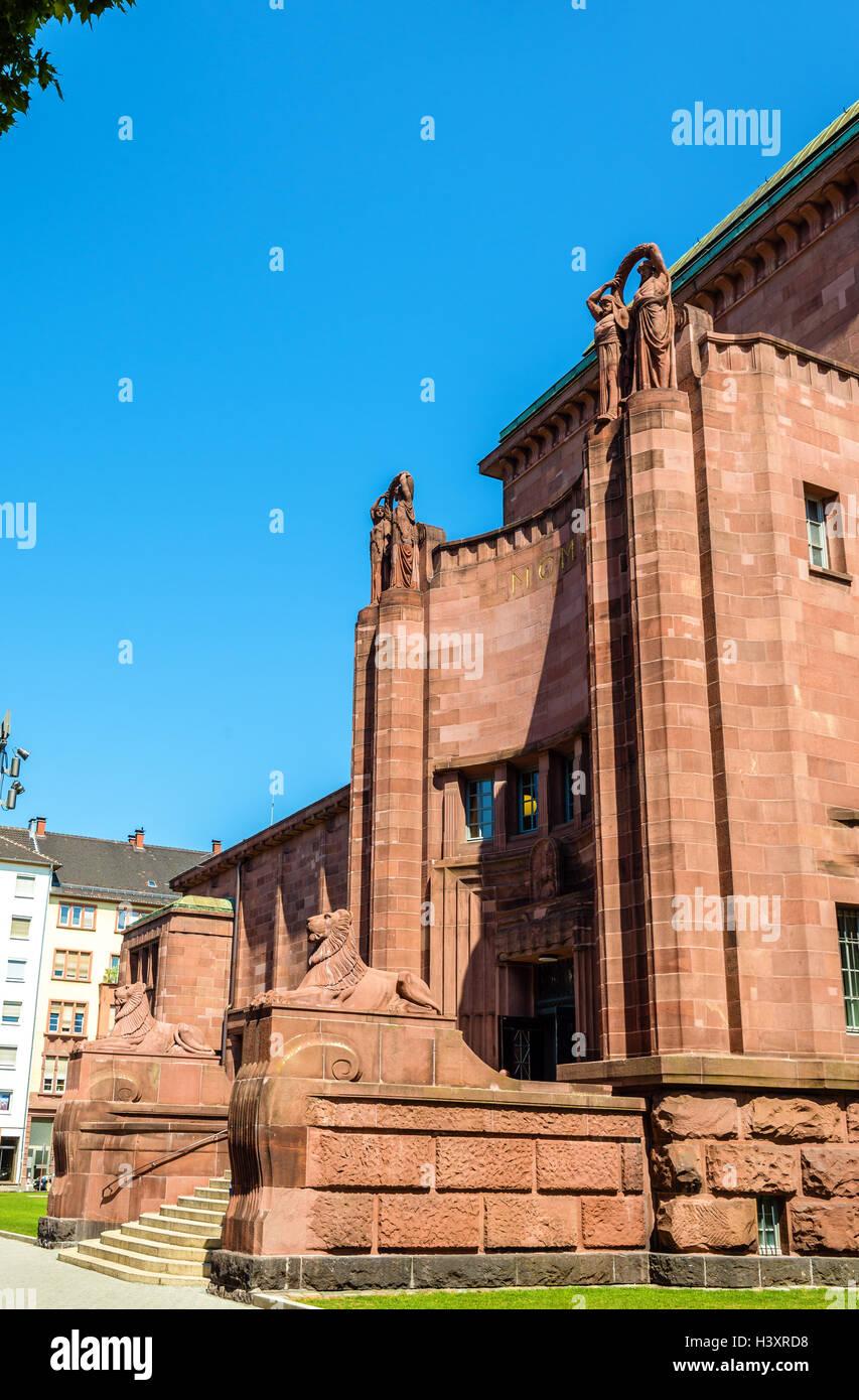 La Kunsthalle, un museo di arte moderna e contemporanea di Mannheim, Germania Immagini Stock