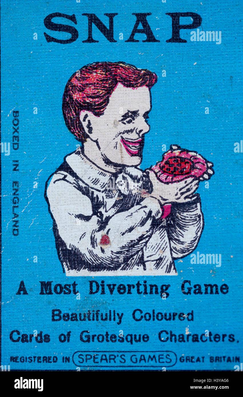 Vecchio Vintage Snap giocare gioco di scheda Immagini Stock