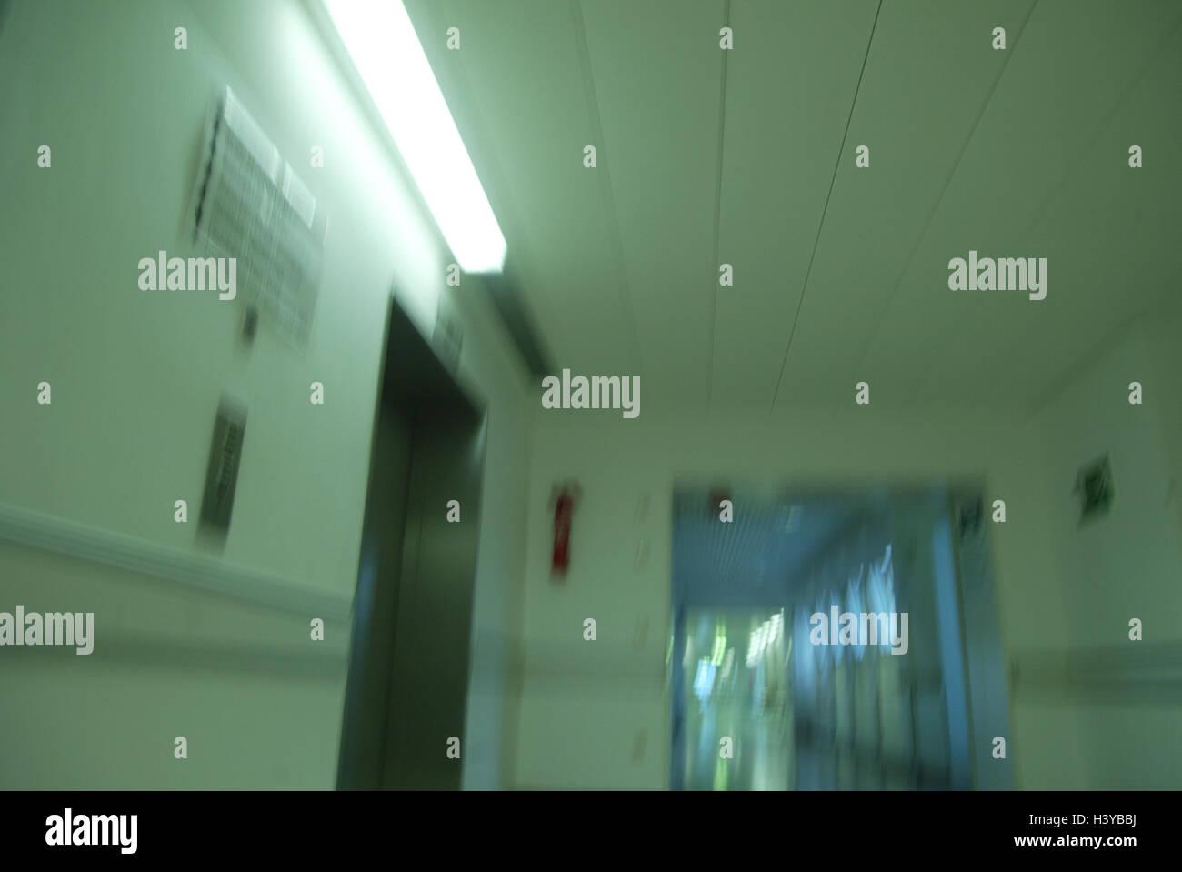 Ospedale hall illuminazione dettaglio blur clinica medicina