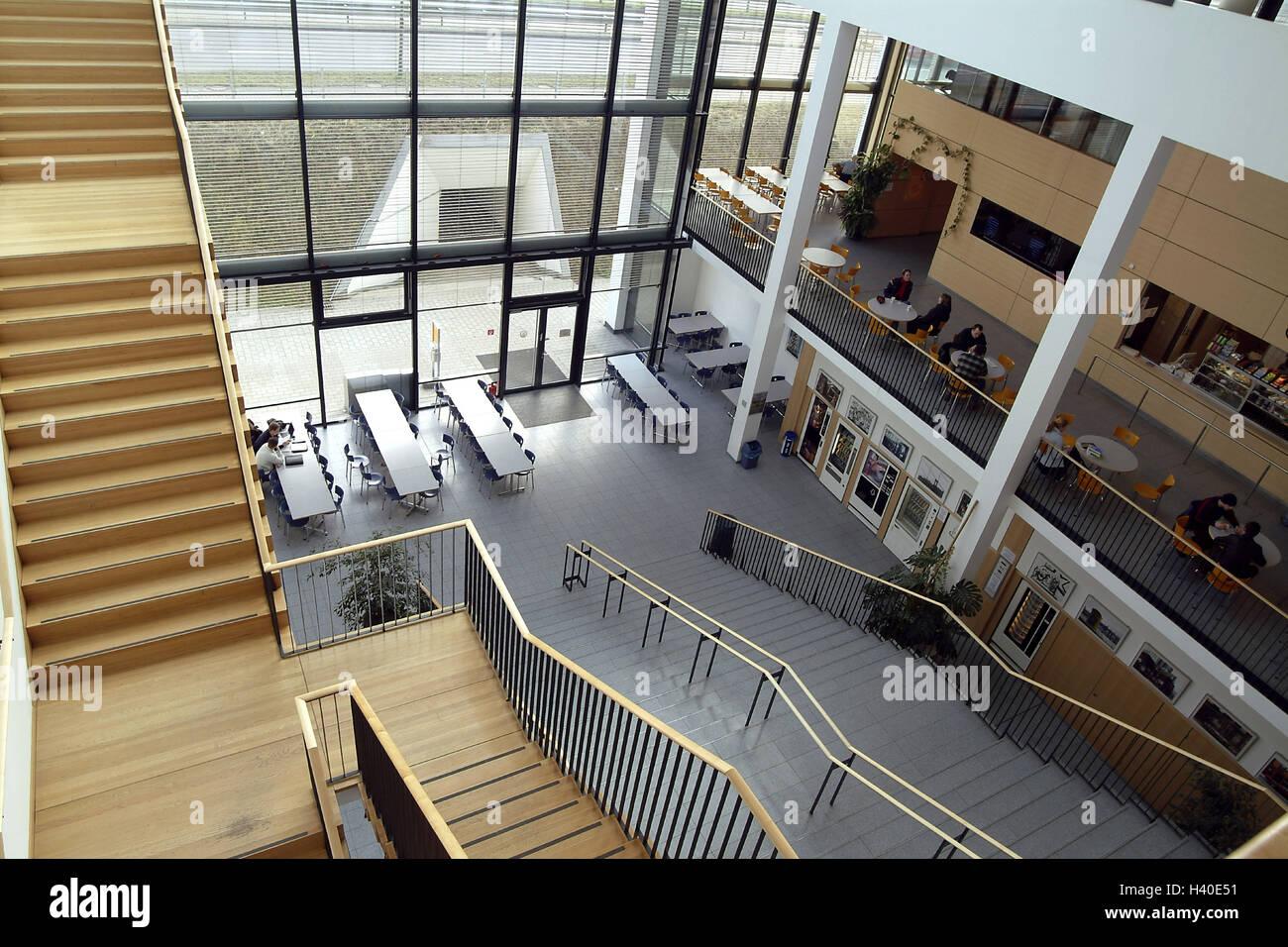 Università Koblenz-Landau, scale, dal di sopra, Germania, università ...