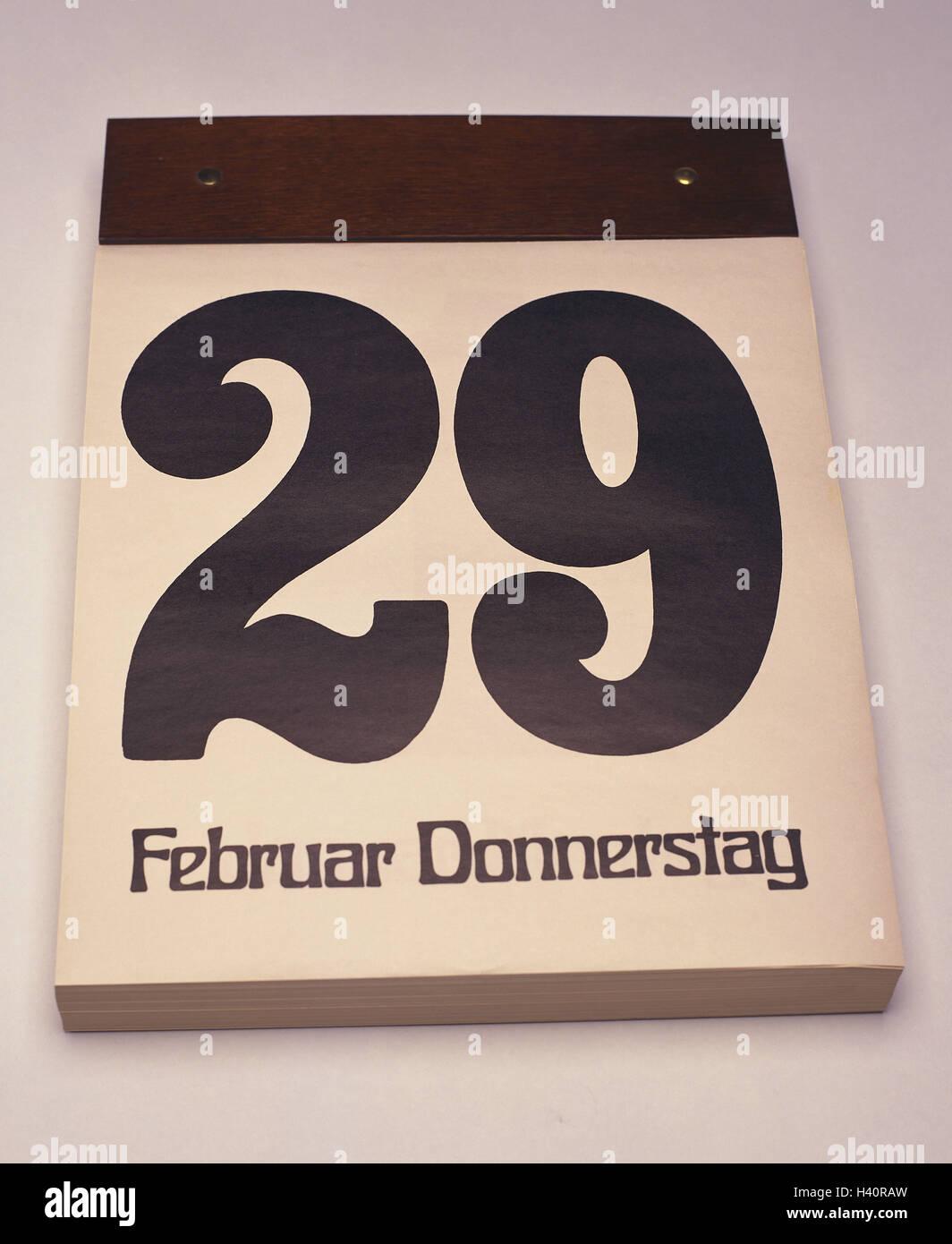 Calendario A Strappo.Negli Anni Bisestili Del Calendario 29 Febbraio Calendario