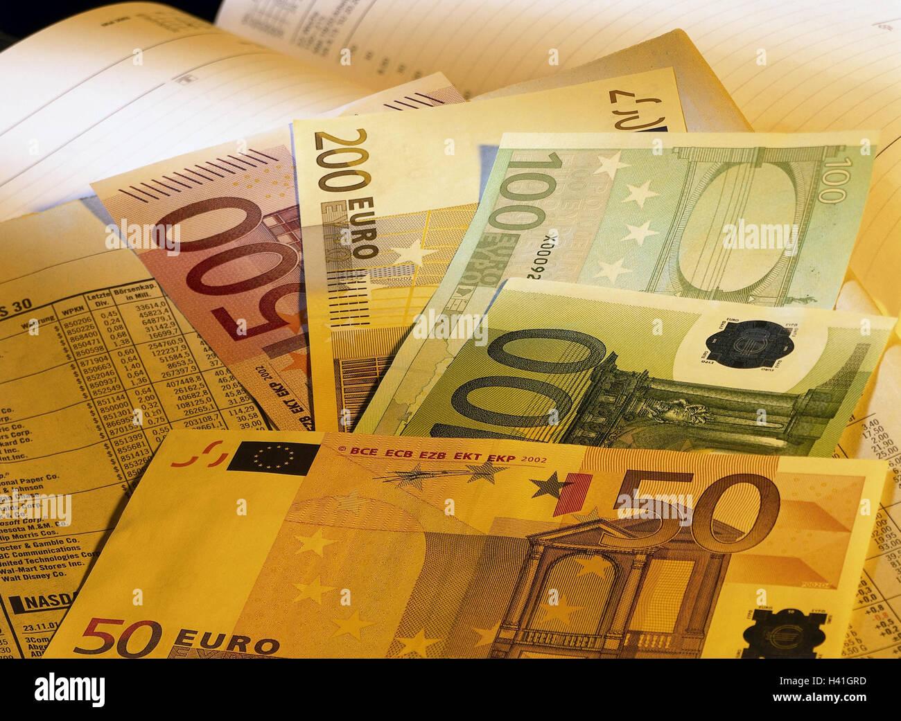 5d94b4939b Calendari, finanziari, della carta delle banconote euro, still life, la  fotografia del prodotto, banconote, denaro contante, valuta unità  monetaria, moneta ...