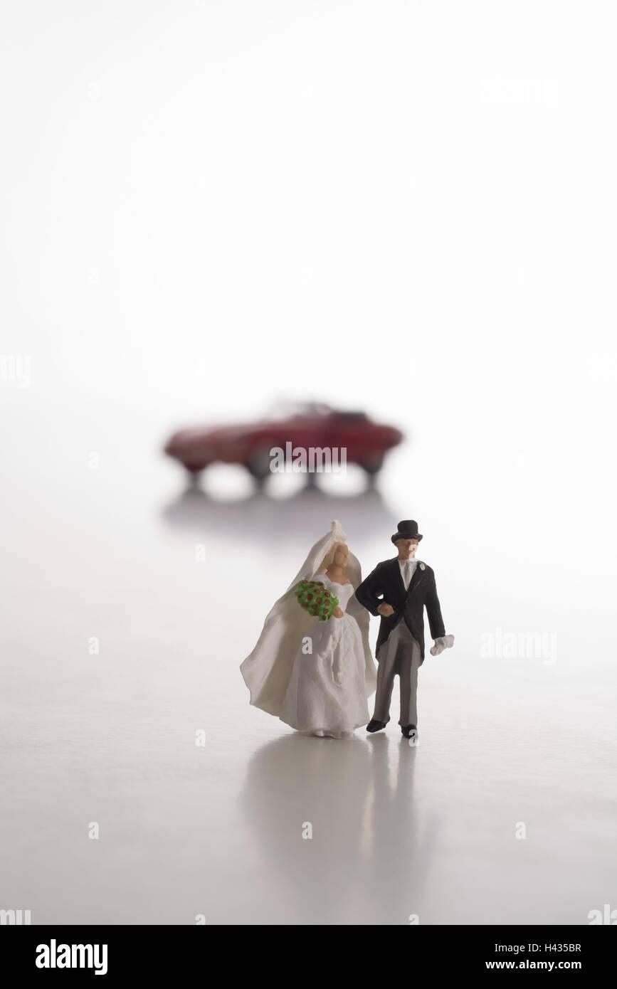 Anniversario Di Matrimonio Viaggio.Toy Figure Wedding Coppia Sfondo Auto Sportive Rosso