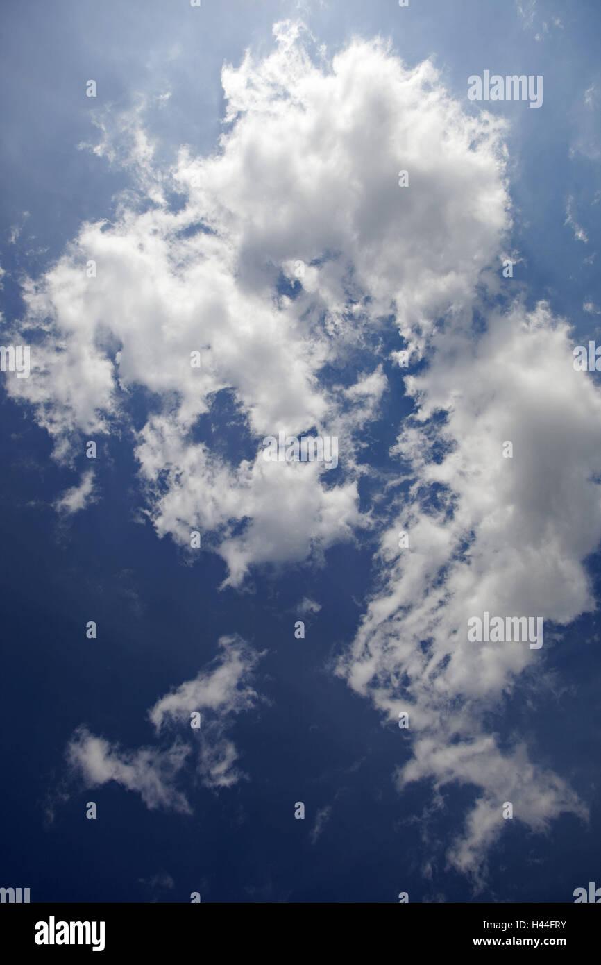 Nuvole, cielo blu, Immagini Stock