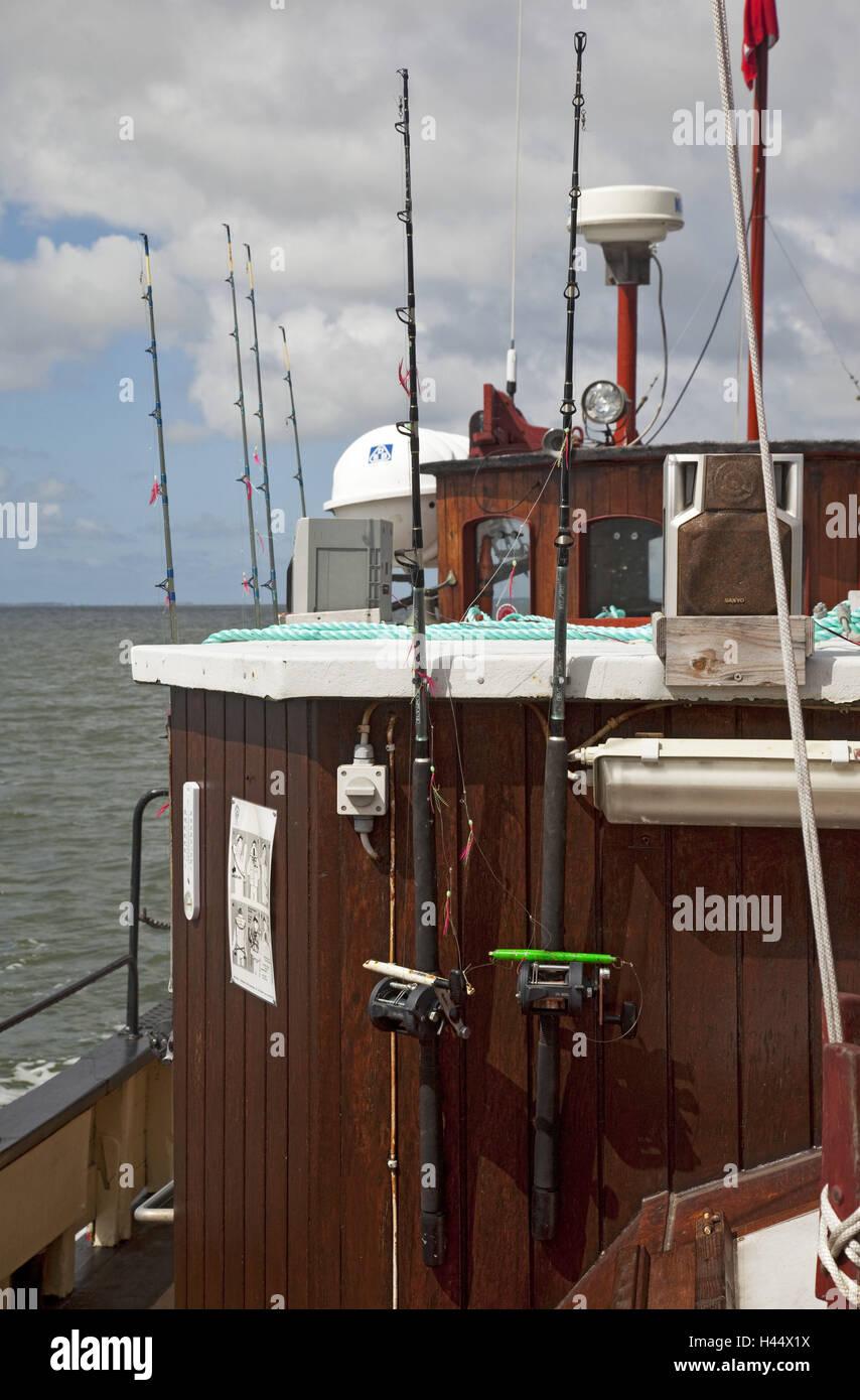 Nave, pesca sportiva, dettaglio Immagini Stock