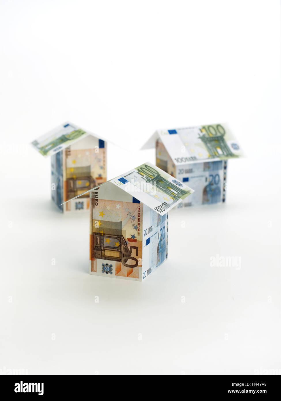Banconote Casa Di Formare Icona La Costruzione Di Una Casa