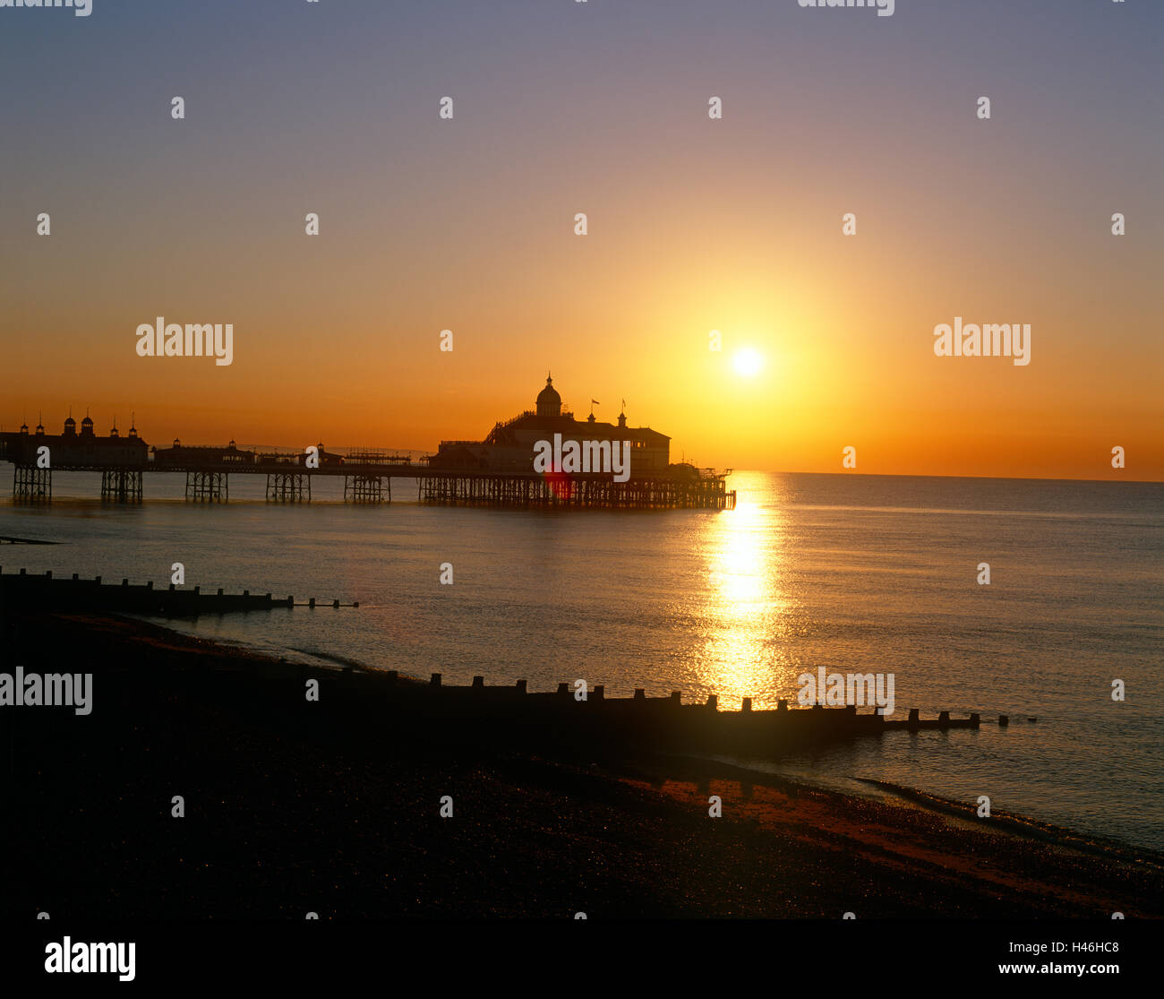 Eastbourne Sussex Beach Pier Foto Stock