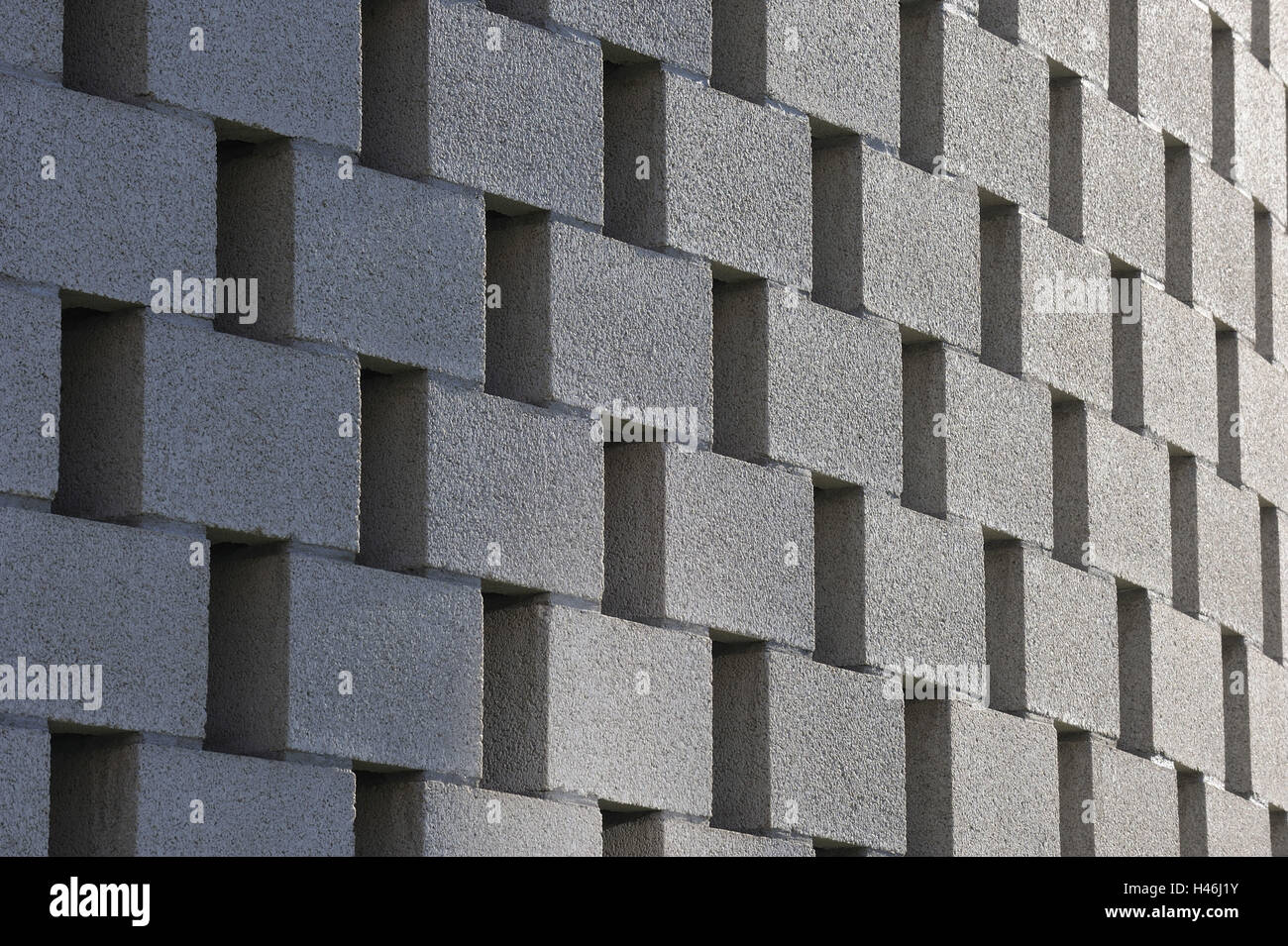 Facciata di edificio, pietre, curvatura, dettaglio Immagini Stock