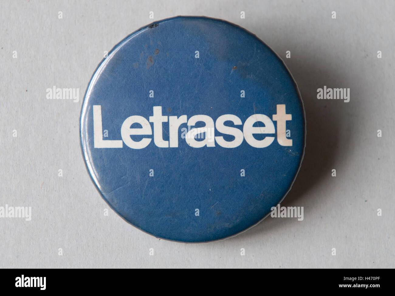 Badge Letraset HOMER SYKES Immagini Stock