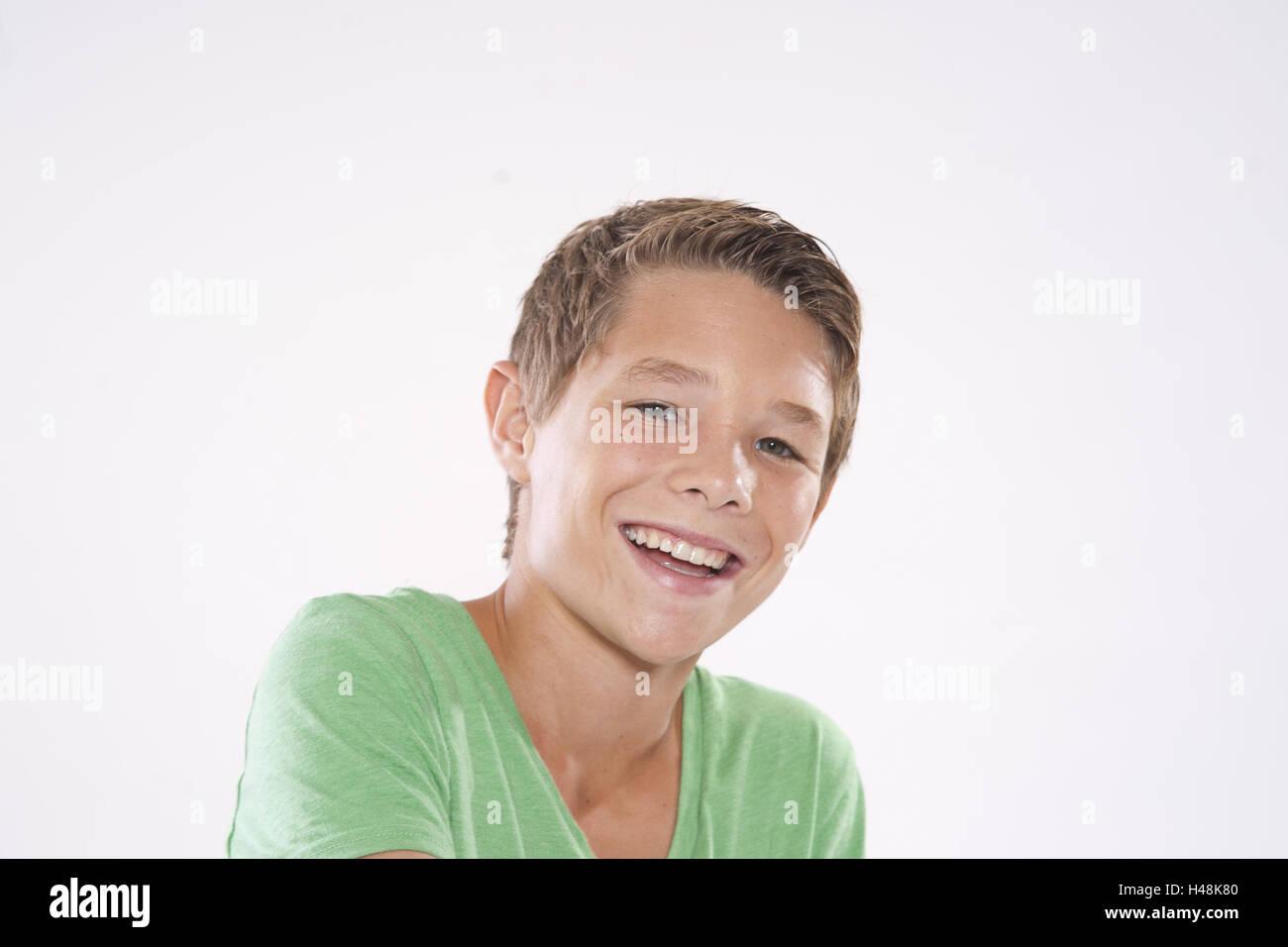 Ragazzo adolescente, ritratto, Immagini Stock