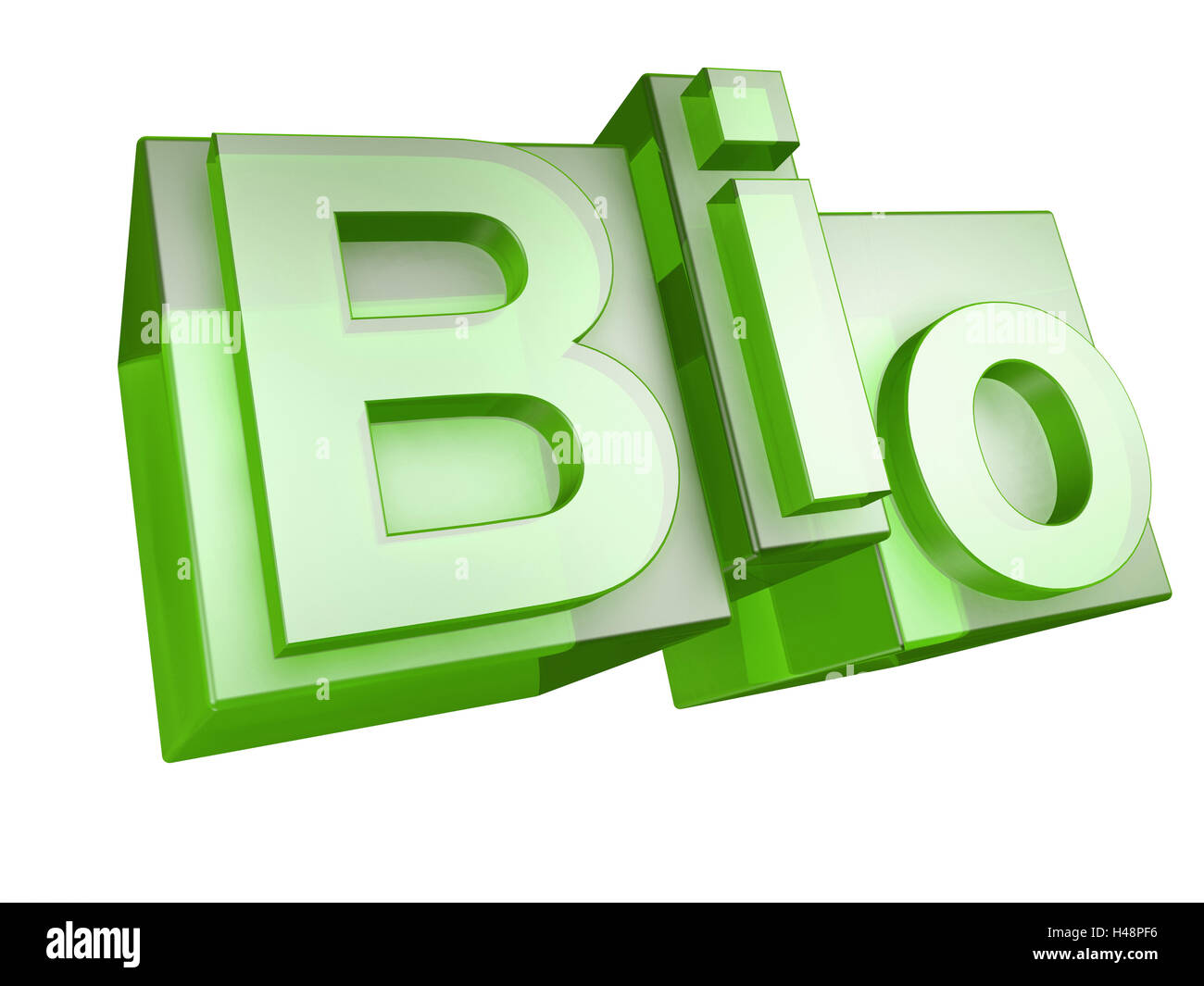 Biologia Verde Sfondo Bianco Word Biologia 3d Lettera Verde