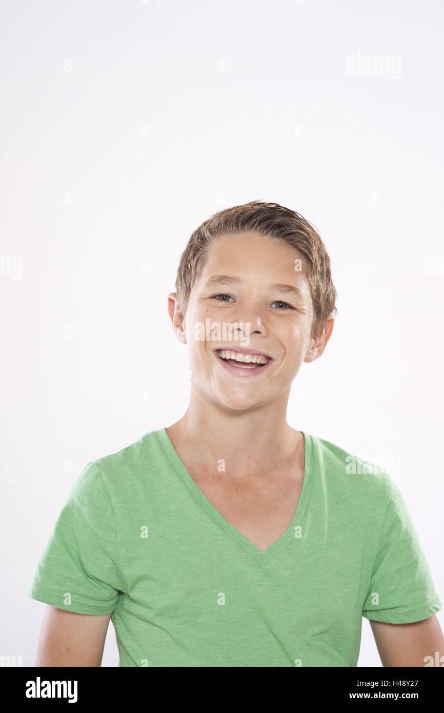 Adolescente, boy, ritratto, Immagini Stock