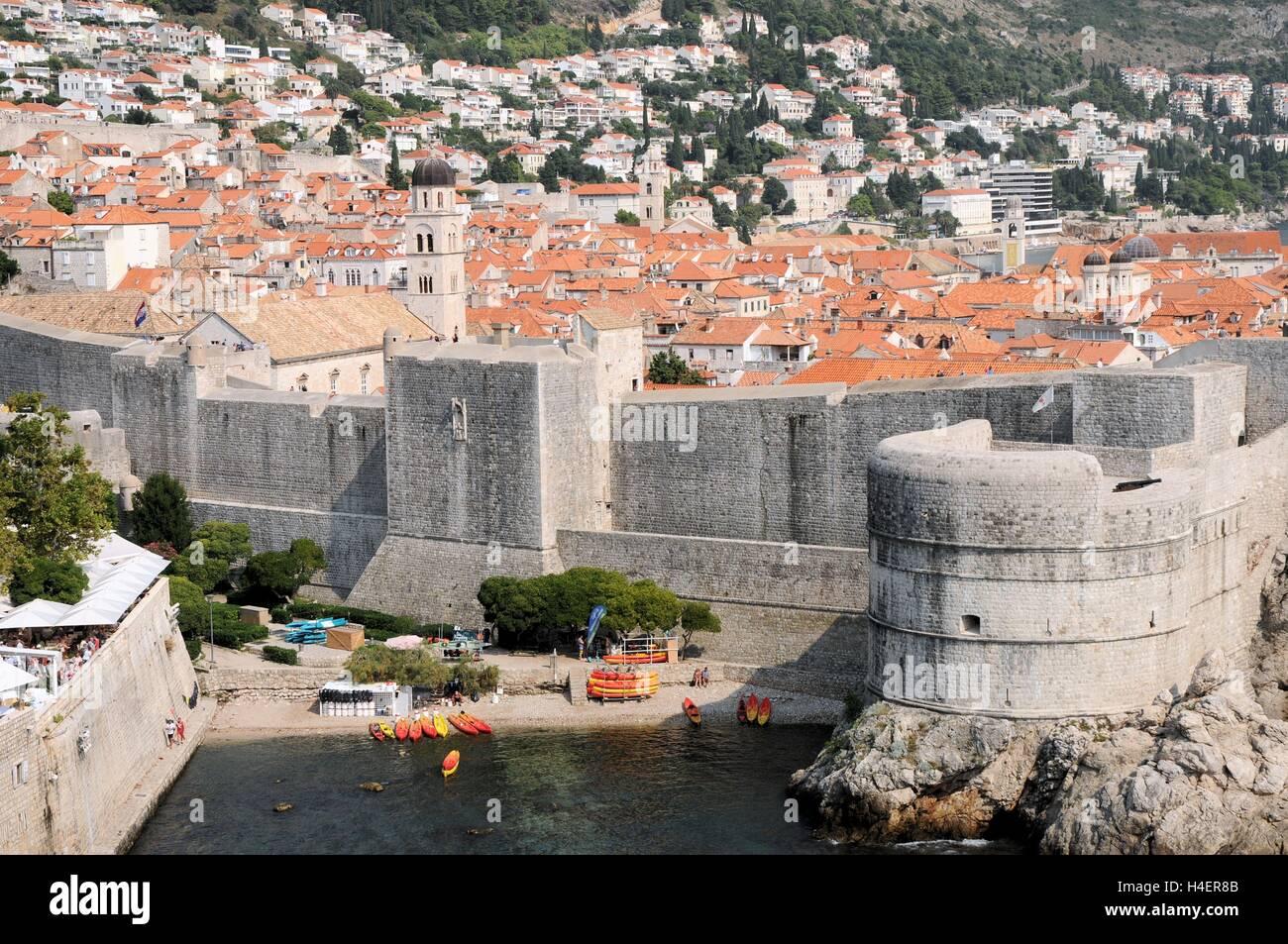 La Città Vecchia di Dubrovnik, Croazia Immagini Stock